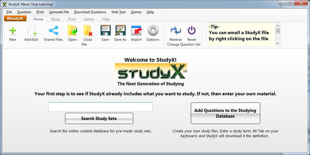 StudyX, study any subject, vocabulary, study Spanish, foreign languages, study software, study games, flashcards, notecards, Latin, Study Chinese, Japanese, Korean, Russian, History, French, Science, Math, English, Reading, Spelling, Art